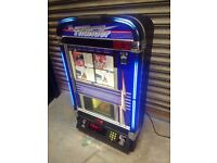 Fantastic CD wall mounted Jukebox including CDs. Fully working. Looks amazing lit up. Freeplay.