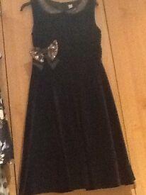 Black velvet party dress aged 11
