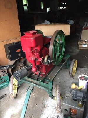 Antique Massey Harris Hit Miss Stationary Gas Engine Type 1