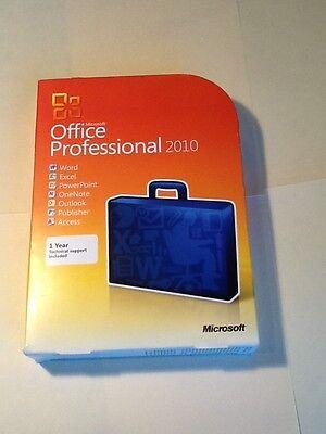 Microsoft Office 2010 Professional   2 Pc Dvd   Full Retail   Genuine