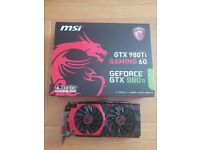 MSI GeForce GTX 980 Ti 6G GAMING Graphics Card 6GB PC