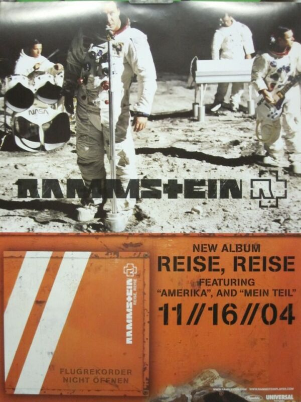 Rammstein 2004 Reise,Reise BIG promotional poster Flawless New Old Stock