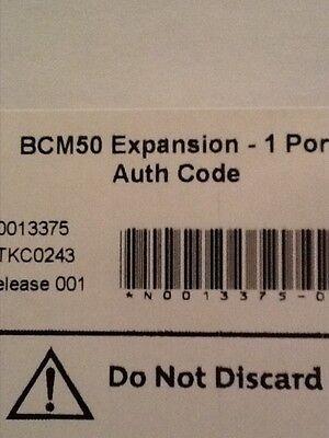 Nortel Avaya Bcm50 Expansion - 1 Port Auth Code Keycode License
