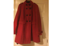 Marks & Spencer red coat . Like new, worn only couple of times.