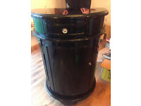 Black half barrel cabinet- Homesense