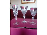 Boxed set of 18 wine glasses and champagne flutes