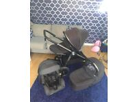 Black signature edition mamas and papas occaro pram pushchair
