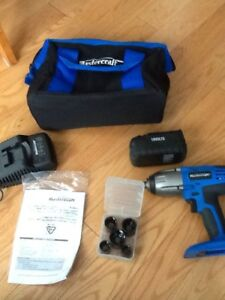 Brand    new MasterCraft cordless    impact wrench + bonus