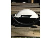 WEBER portable/table top gas BBQ and gas bottle