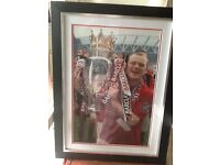 Wayne Rooney signed/framed picture with Authentication Certificate holding the FA Cup great gift