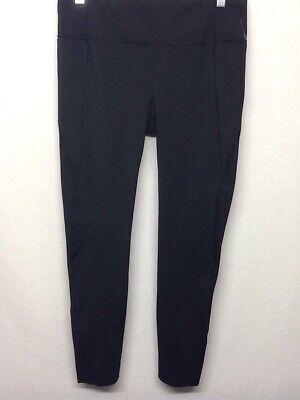 Athleta Women's Solid Black wth Back Pocket Tights Athletic Pants Size M      Q4