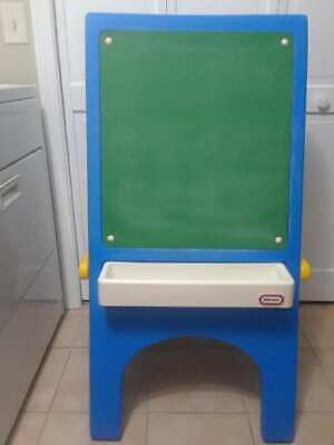 Little Tikes Vintage Double Sided Child Size Easel with 2 Trays - GUC