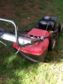Mount field lawn mower