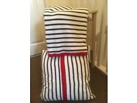 Next nautical throw and scatter cushion