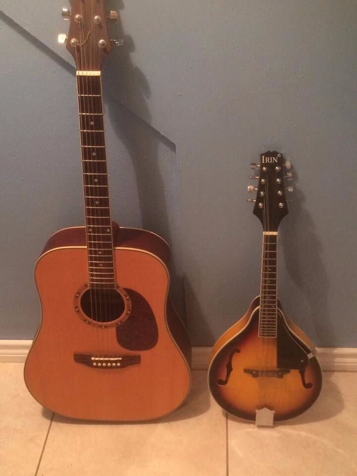 Ashton Acoustic Guitar and Irin Mandolin