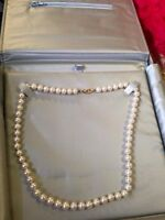 Real pearl necklace.