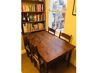 Farmhouse dinning table and 6 chairs