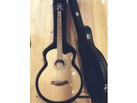 Acoustic Bass Guitar with case