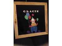 Original Collage 'Gracie' NOT A PRINT Wooden Glass Fronted Frame