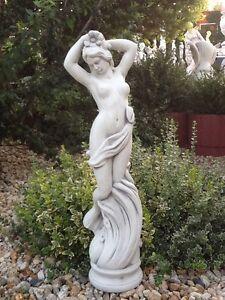 Gartenfigur,Steinfigur,Jungfrau,Frostfest,Steinguss,Menschen,80 cm,Beton-Art 621