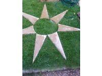 Garden star stones