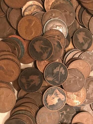 (20) Large British Pennies - Queen Victoria to Queen Elizabeth II