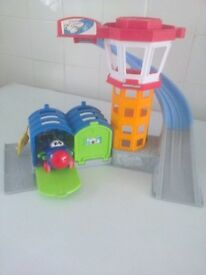 Fisher Price Little People Airport colour red & white & green & Grey & blue with aeroplane