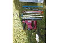 Kango 422 drill plus assorted large drill bits