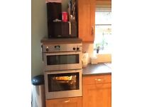 Wcomplete cherry oak fitted kitchen with appliances