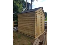 2.4 metres x 2.4 metres garden shed , potting shed , outdoor toilets , glamping