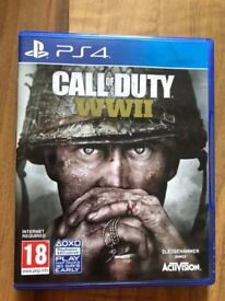 Call of duty world war 2 , as new , Ps4 ! Price stands , no offers !