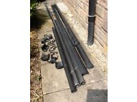 Guttering and fall pipes (plastic) FREE
