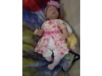 """GORGEOUS REBORN BABY GIRL SHE IS 22"""" LONG IN EXCELLENT CONDITION AND WEARS AGE 0-3 MONTHS CLOTHES"""