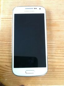 Samsung S4 mini 8GB, White, excellent condition, always been in a case, locked to Vodafone.