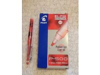 Pack of 11 Red P-500 ball point pens