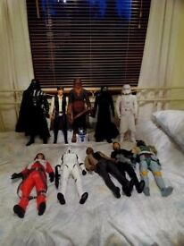 Large Star wars figures / toys - immaculate