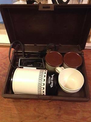 Empire travel perk travel kit dual purpose 4 cup pot hard shell travel case