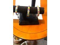 Chakra colours semi precious stones bracelets will fit small,medium,large elasticated.