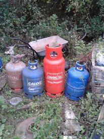 4 calor propane gas bottles.