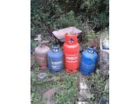 4 calor propane gas bottles.