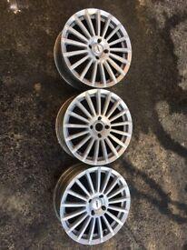 3 x TSW 18 inch Alloy Wheels PCD 4x114 Honda Toyota Nissan Hyundai