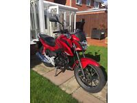 Honda CB 125 F 2015 65 plate fuel injected