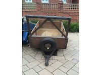 Small Car Trailer 4ft x 3ft Good Condition, Lights Working