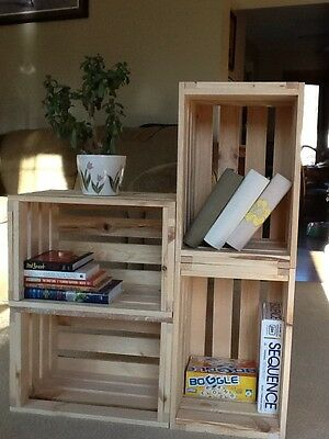One Reclaimed Pine Wooden Single Crate- Rustic Shelf Display-Storage ()
