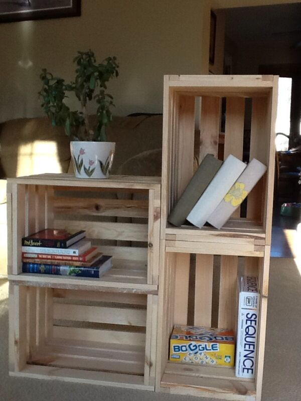 One Reclaimed Pine Wooden Single Crate- Rustic Shelf Display-Storage