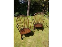 Pair of classic Mid Century Ercol Windsor rocking chairs