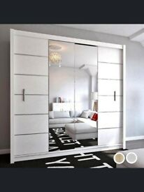 💯 Beautiful Lisbon sliding door mirrored Wardrobe in many options with Express Delivery ✨💯