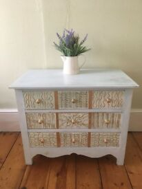 Cute up-cycled chest of drawers. Collect fm Walthamstow.