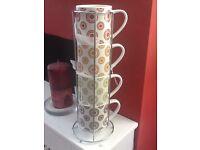 Mug tower - New set of 4