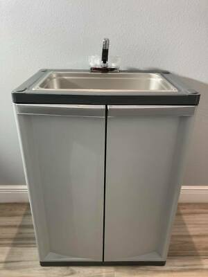 Portable Sink Mobile Handwash With Hot Cold Water Fullsize Basic 2021 L-gray